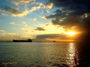 A view of Manila South Harbor Anchorage