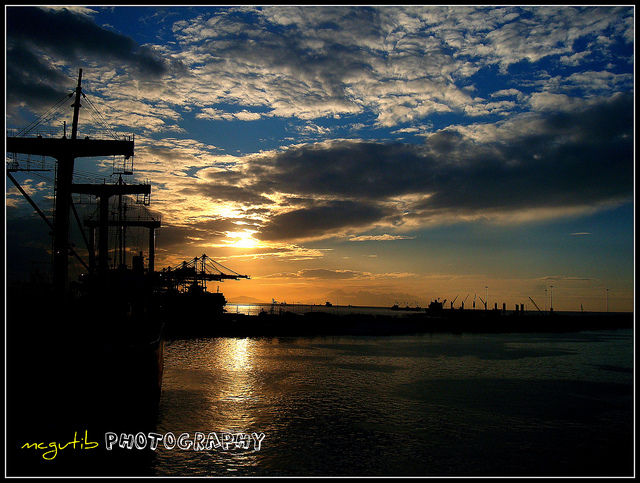 Manila North Harbor Sunset view